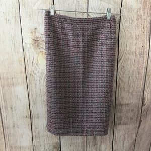 Sag harbor pink and black tweed lined skirt sz 14